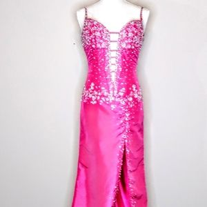 $ALE Clarisse Size 2 Pink Sequin Formal/Prom Gown